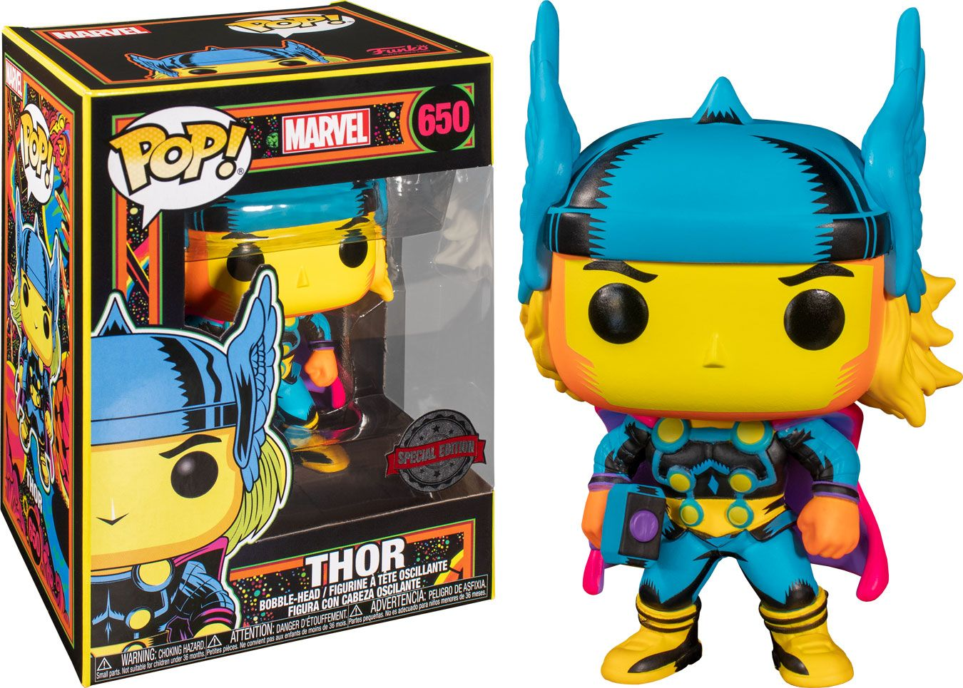 Marvel POP! Marvel Black Light Vinyl Figure Thor 10 cm