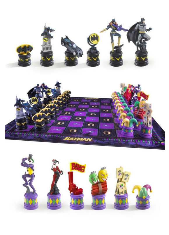 Xadrez Batman Set Dark Knight vs Joker