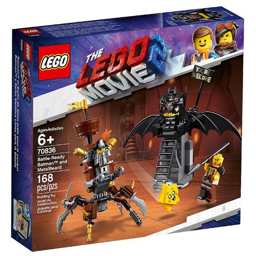 LEGO Movie Batman e Barbas de Ferro Prontos para o Combate
