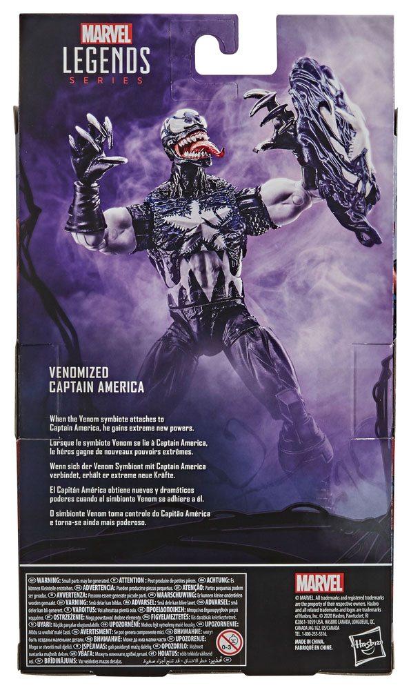 Spider-Man: Maximum Venom Marvel Legend Series AF Venomized Captain America