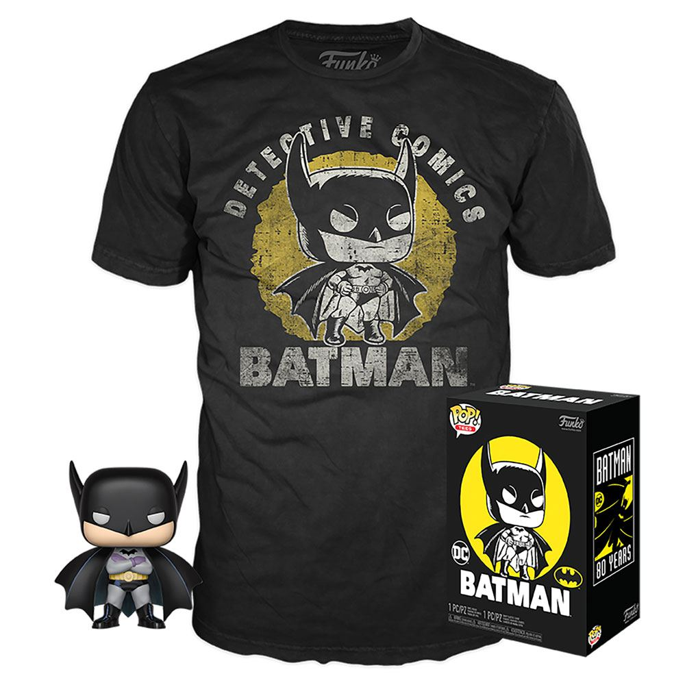 DC Comics POP! & Tee Box Batman Sun Faded Tamanho M