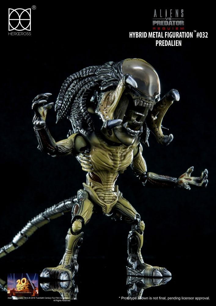 Aliens vs Predator Hybrid Metal Action Figure Predalien 14 cm