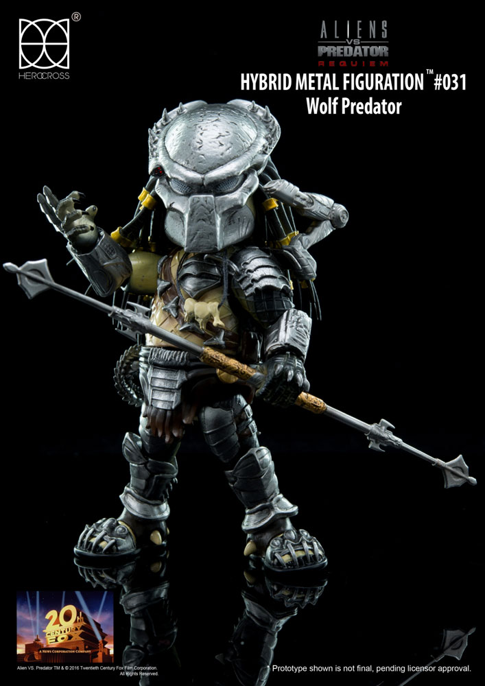 Aliens vs Predator Hybrid Metal Action Figure Wolf Predator 14 cm