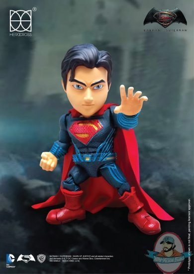Batman vs Superman Hybrid Metal Action Figure Superman 14 cm