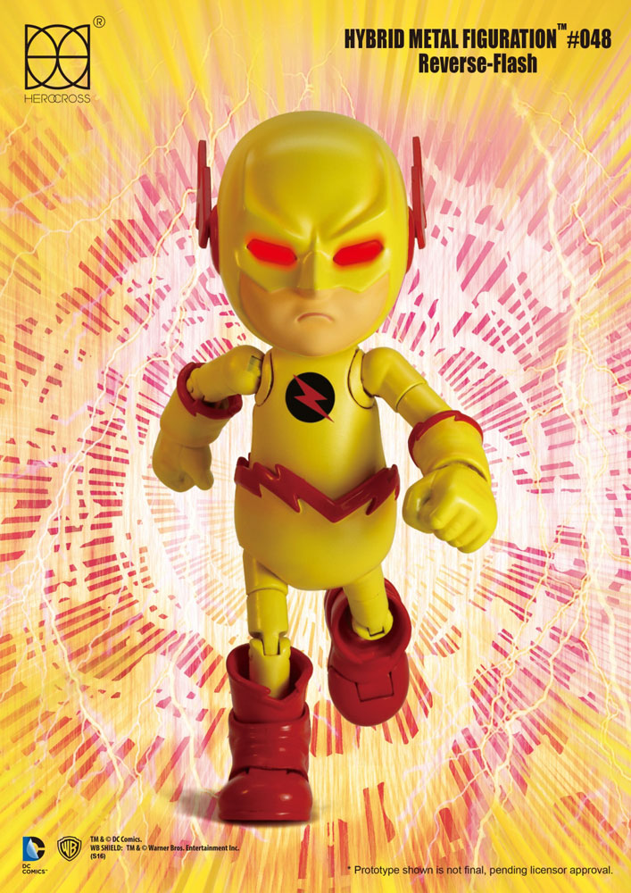 DC Comics Hybrid Metal Action Figure Reverse Flash 14 cm
