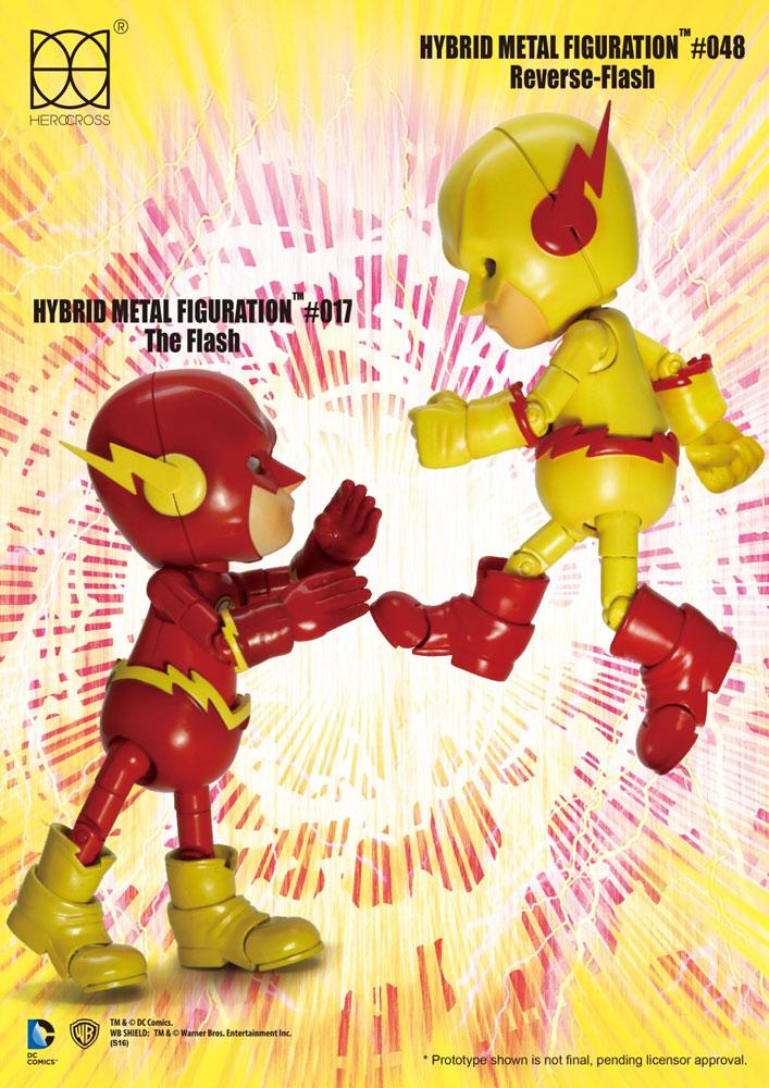 DC Comics Hybrid Metal Action Figure 2-pack Reverse Flash & The Flash 14 cm