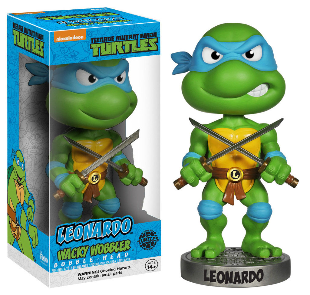 Teenage Mutant Ninja Turtles Wacky Wobbler Bobble-Head Leonardo 18 cm