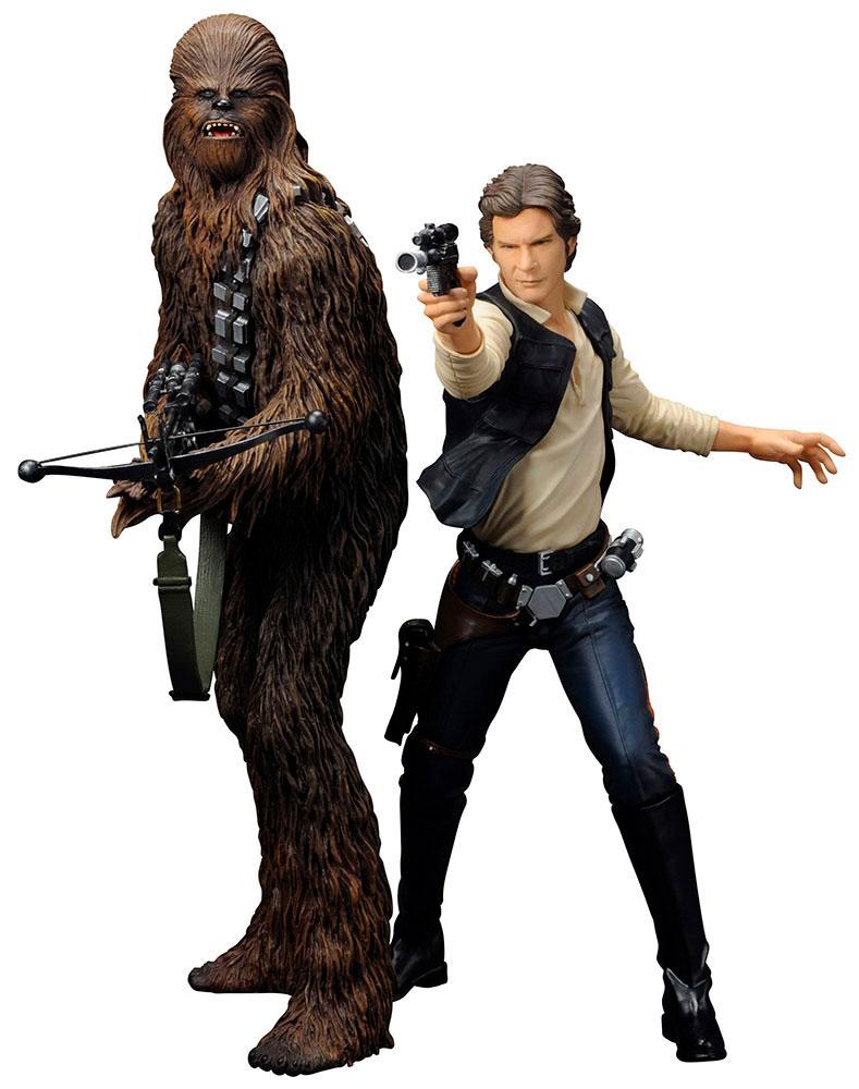 Star Wars ARTFX+ Statue 2-Pack Han Solo & Chewbacca 18 cm