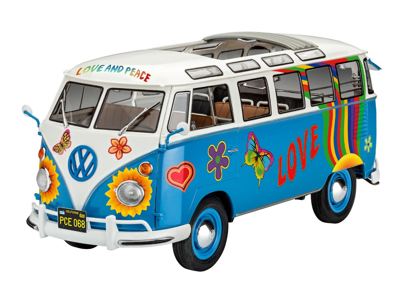 Revell Model Kit VW T1 Samba Bus Flower Power 1:24