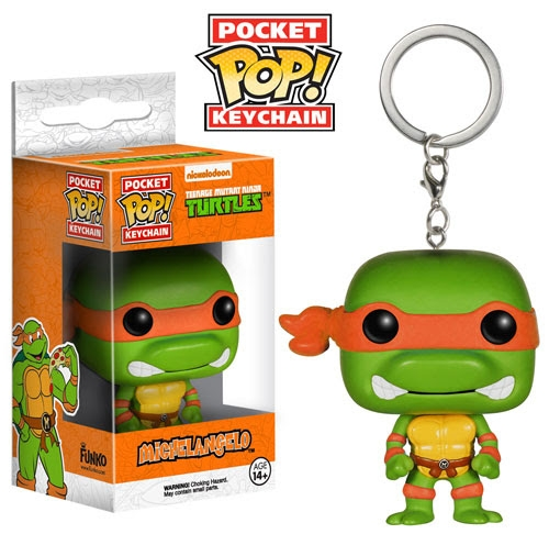 Pocket Pop! Keychain Teenage Mutant Ninja Turtles Michelangelo Vinyl Figure