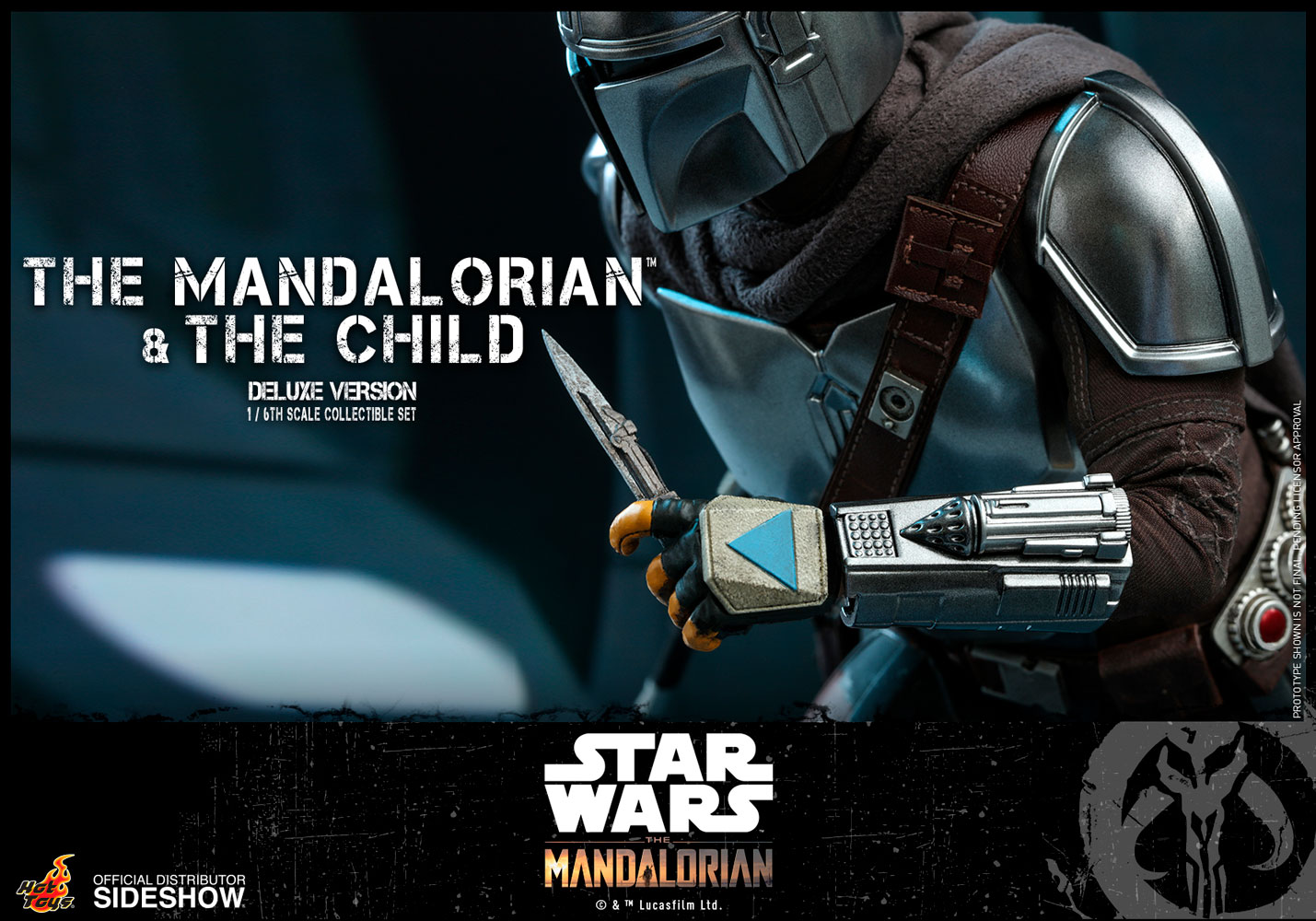 Star Wars: Deluxe The Mandalorian and The Child 1:6 Scale Figure Set