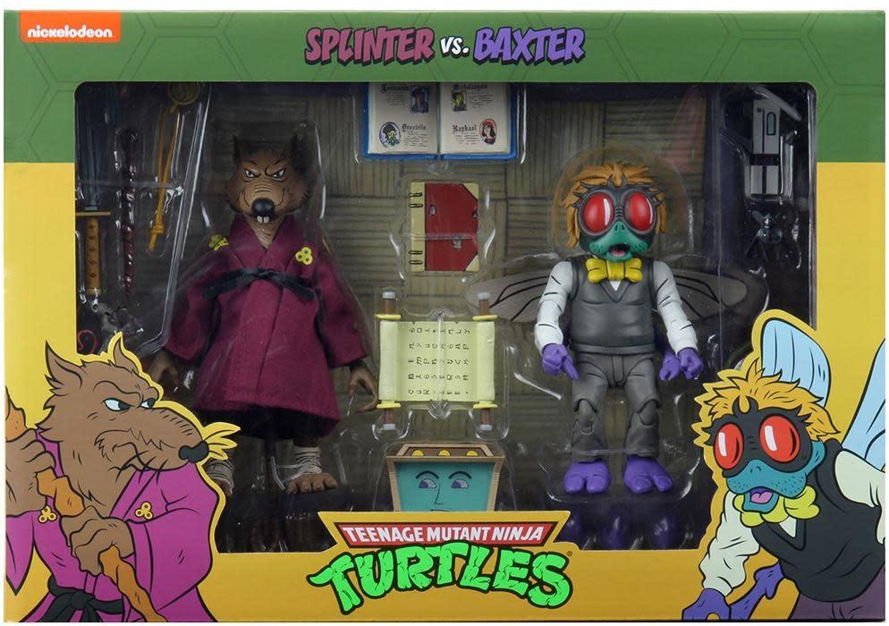 Teenage Mutant Ninja Turtles Action Figure 2-Pack Splinter & Baxter 18 cm