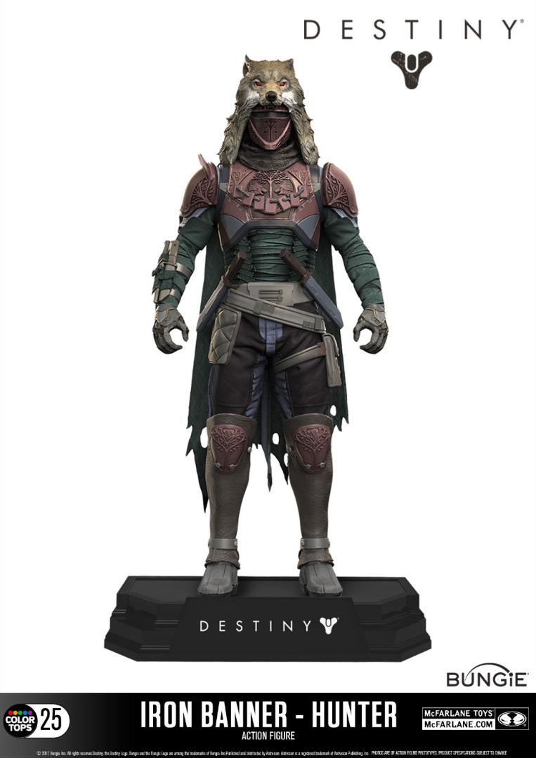 Action Figure Destiny Color Tops Hunter (Iron Banner) 18 cm