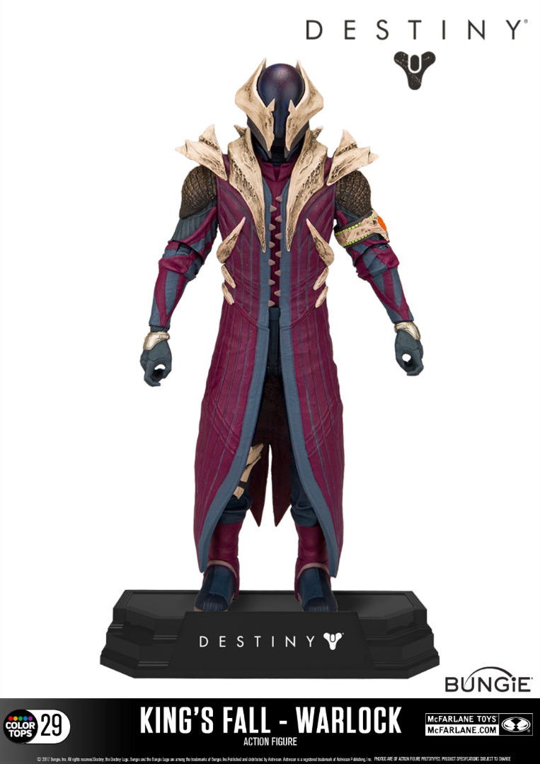 Action Figure Destiny Color Tops Warlock (King's Fall) 18 cm
