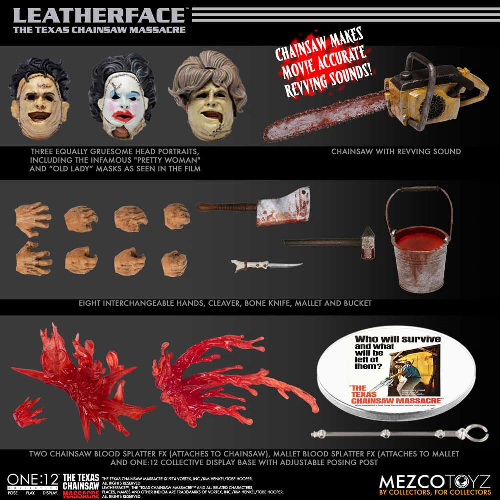 Texas Chainsaw Massacre Action Figure 1/12 Leatherface Deluxe Edition 17 cm