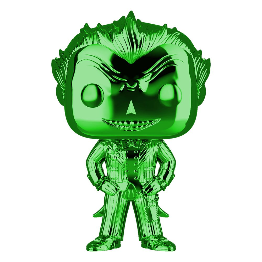 DC POP! Marvel Vinyl Figure The Joker (Green Chrome) 9 cm