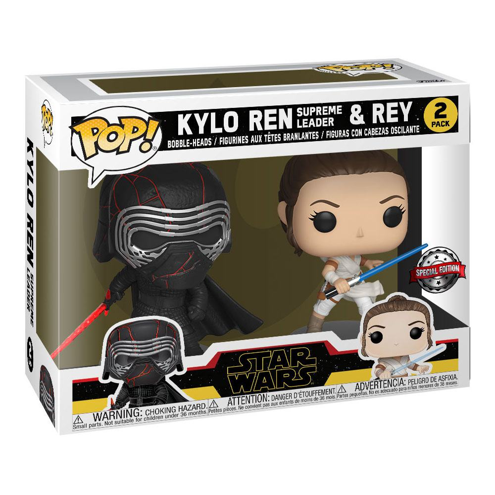 Star Wars Rise of Skywalker POP! Vinyl Bobble-Head 2-Pack Kylo & Rey 9 cm