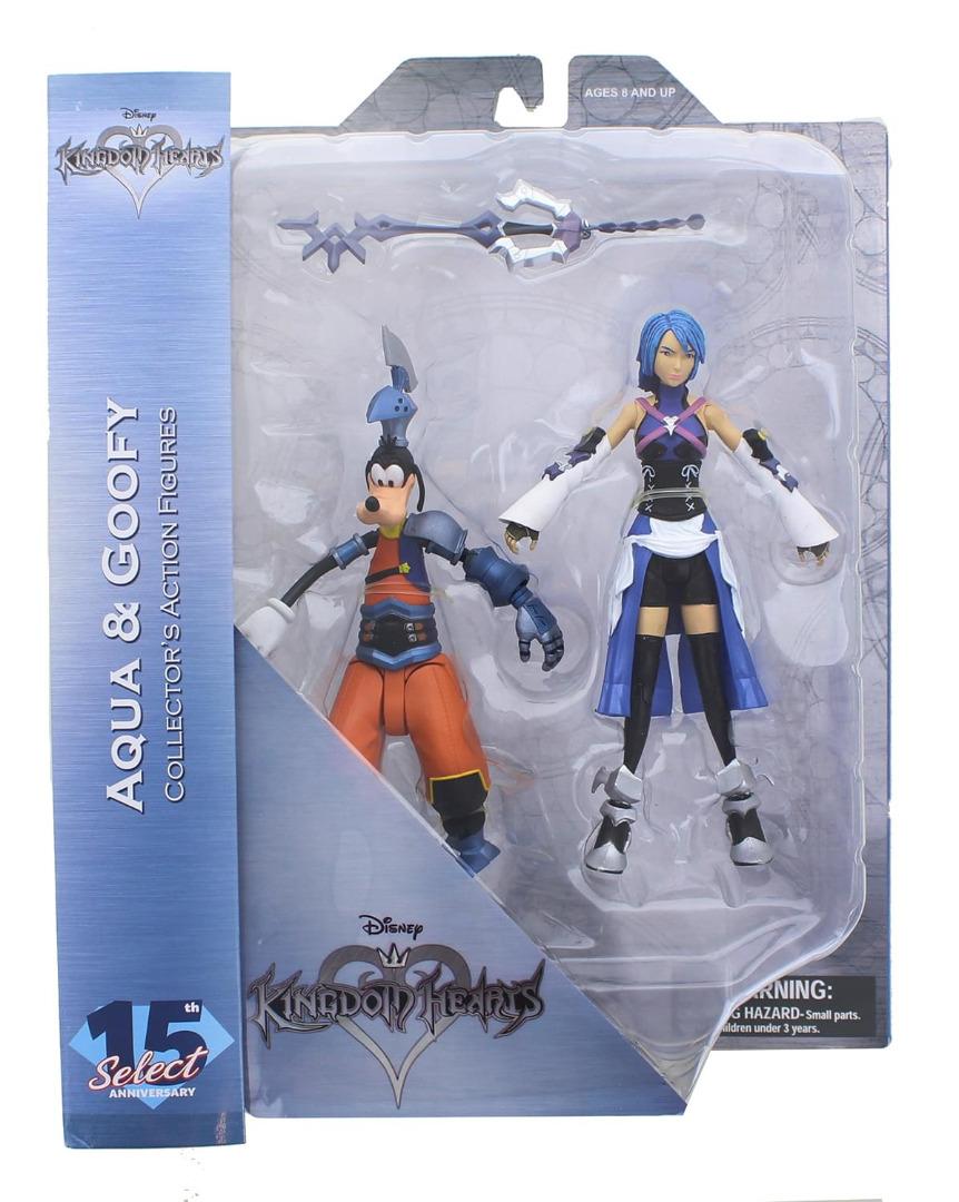 Kingdom Hearts Select Action Figures Aqua and Birth by Sleep Goofy 18 cm