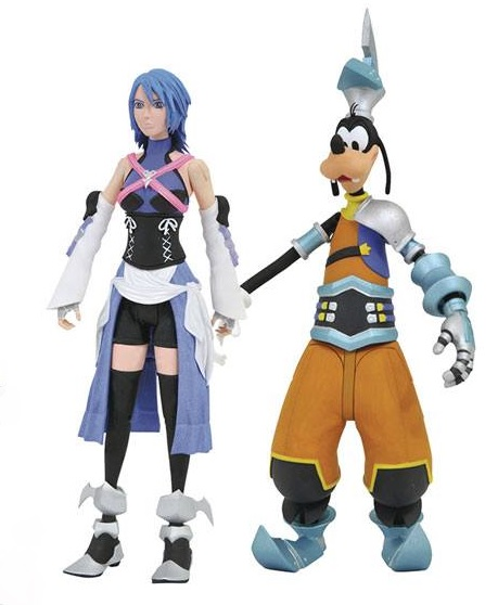 Kingdom Hearts Select Action Figures Aqua and Birth by Sleep Goofy 18 cm