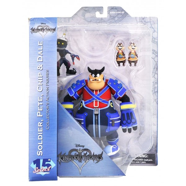Kingdom Hearts Select Action Figures Pete, Chip & Dale, Soldier 18 cm