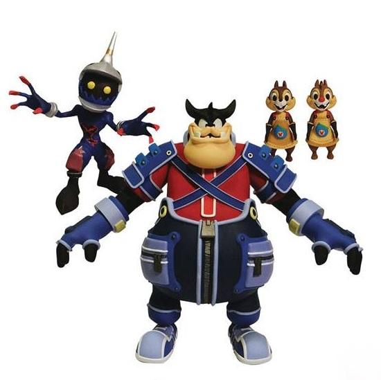 Kingdom Hearts Select Action Figures Pete, Chip & Dale, Soldier 18 cm