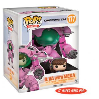 Funko POP! Games Overwatch D. VA with Meca Oversized + Pilot Set 15 cm