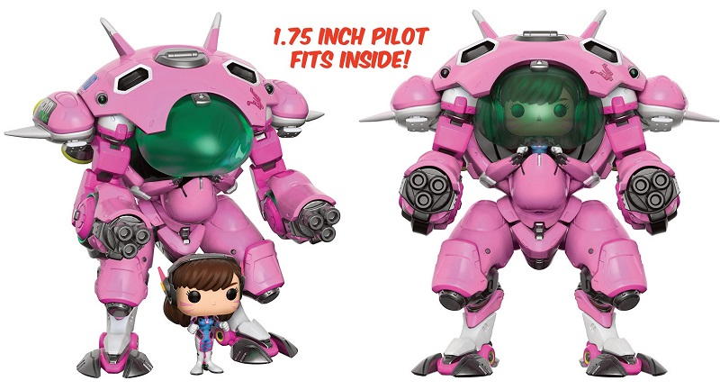 Funko POP! Games Overwatch D. VA with Meca Oversized + Pilot Set 15 cm