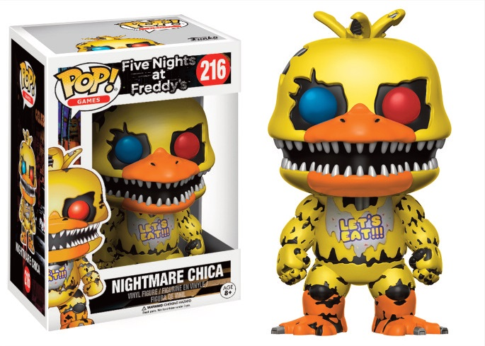 Funko POP! Games Five Nights At Freddy's Nightmare Chica Vinyl Figure 10 cm