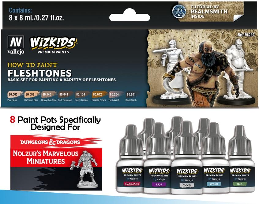 Vallejo WizKids Premium Paints Set Fleshtones 80.259