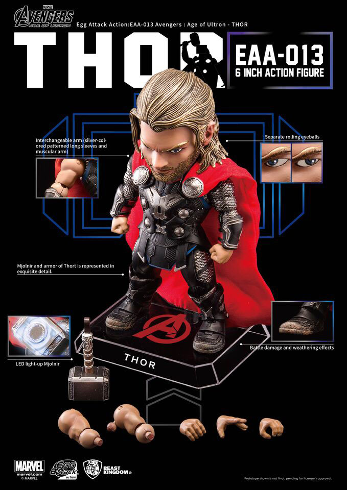 Avengers Age of Ultron Egg Attack Action Figure Thor 15 cm