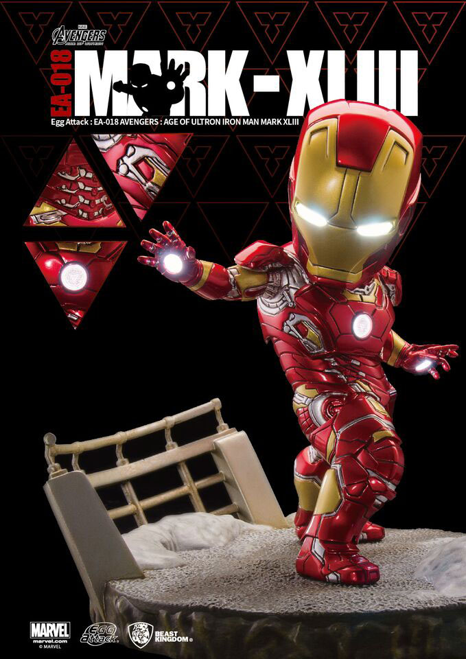 Avengers Age of Ultron Egg Attack Statue Iron Man Mark XLIII 18 cm