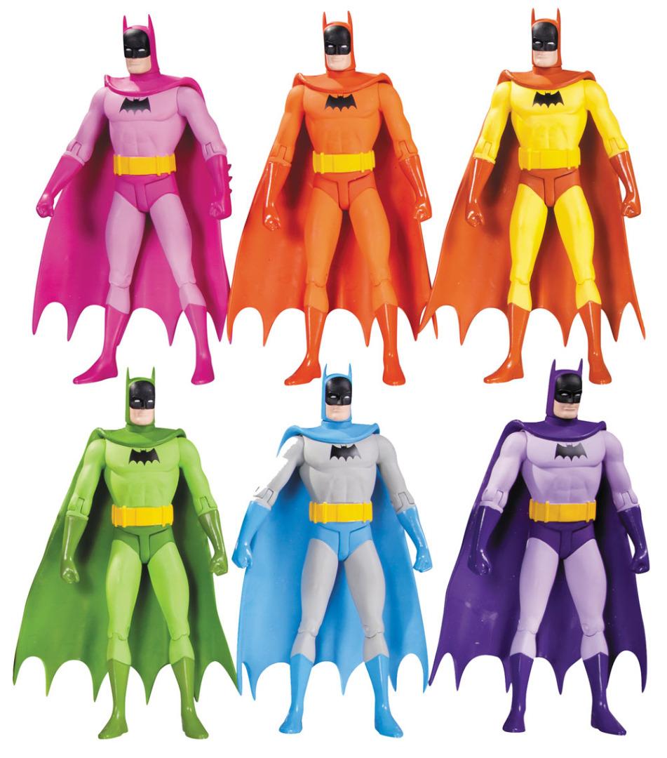 Batman Action Figure 6-Pack Rainbow 17 cm