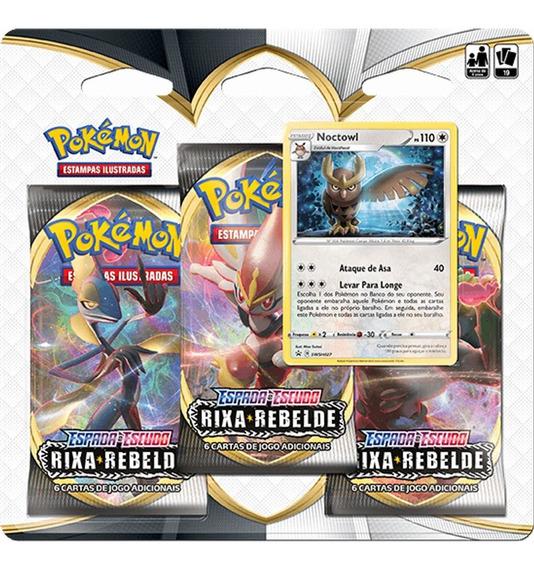 Pokémon Rixa Rebelde Blister 3 Pack Boosters (PT)