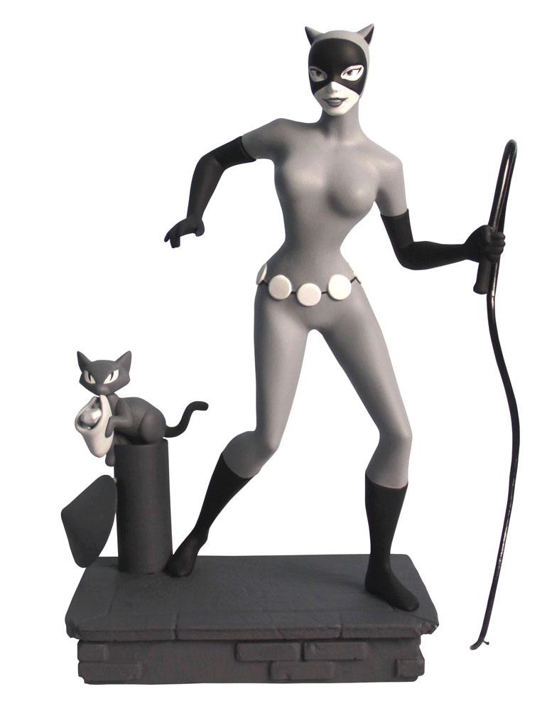 Estátua DC Batman The Animated Series Femme Fatales Black & White Catwoman