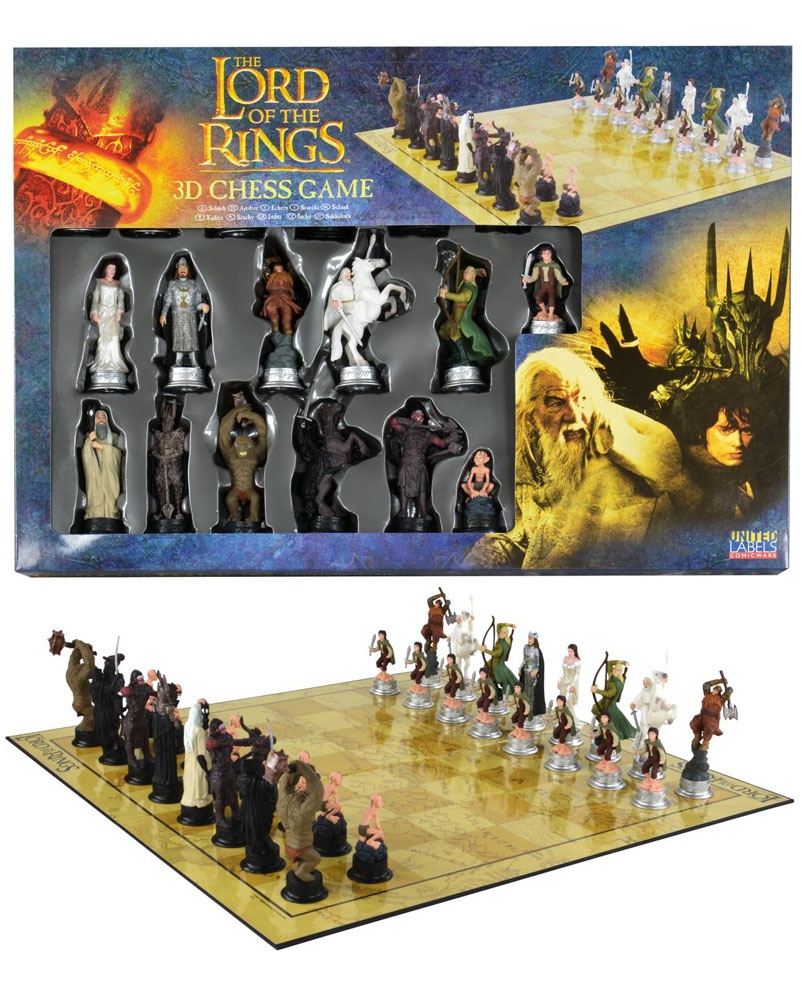 Xadrez Lord of the Rings 3D Characters