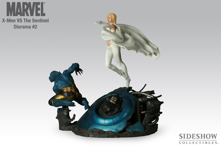 Beast and White Queen Statue Diorama 42 cm
