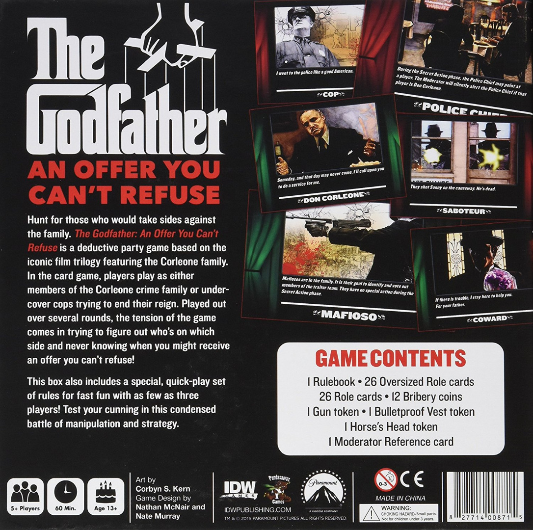 Cardgame The Godfather: An Offer You Can't Refuse