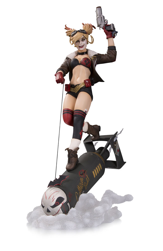 DC Comics Bombshells Deluxe Statue 1/8 Harley Quinn Limited Edition 37 cm