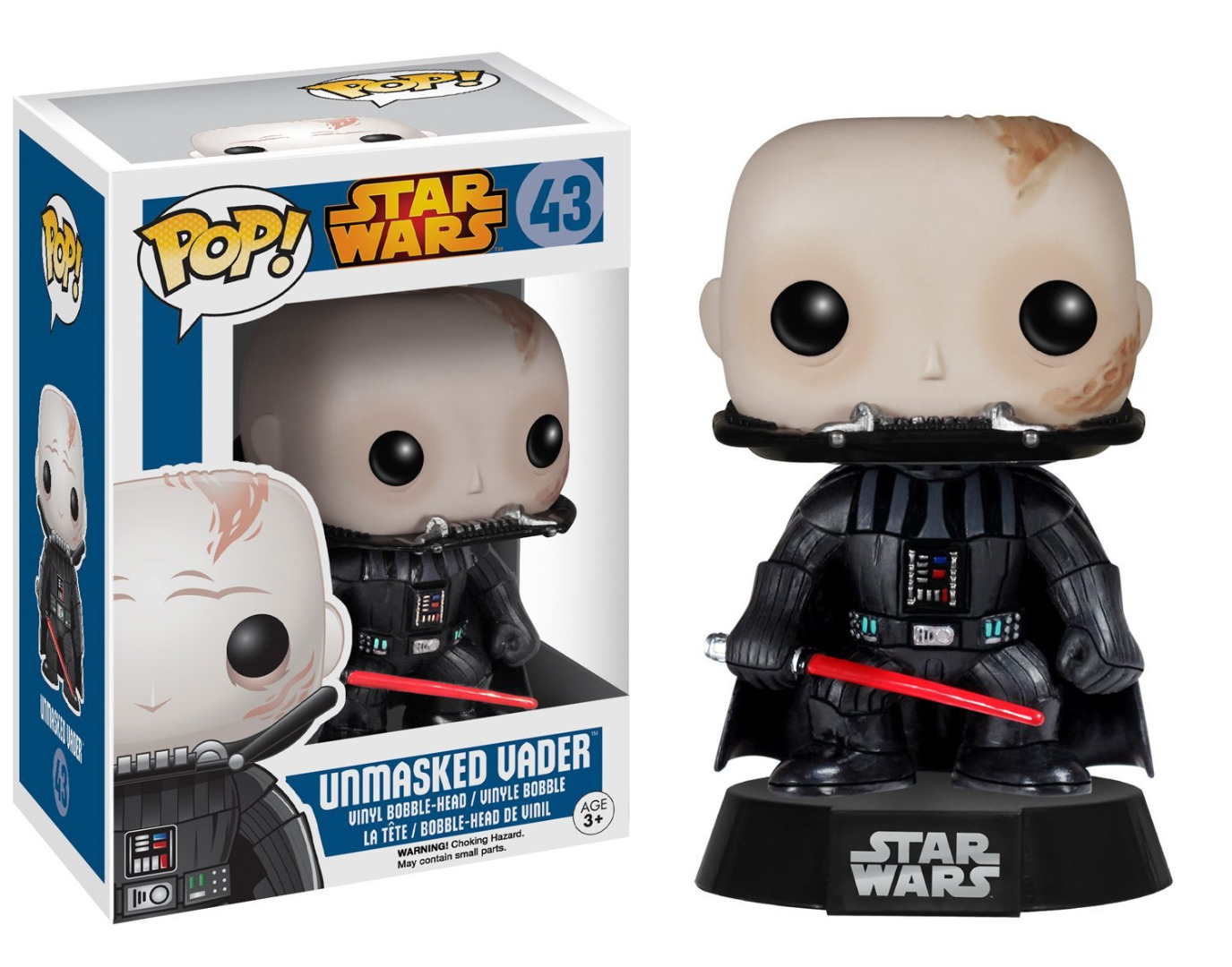 Figura Star Wars POP! Vinyl Bobble-Head Figure Unmasked Darth Vader 10 cm