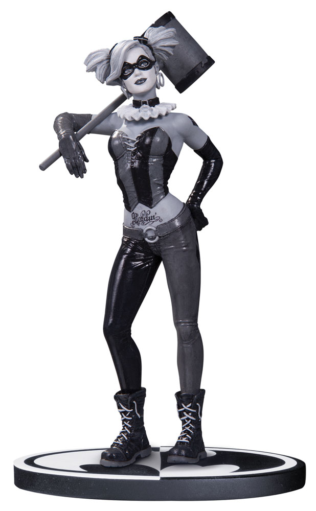 Batman Black & White Statue Harley Quinn by Lee Bermejo 19 cm