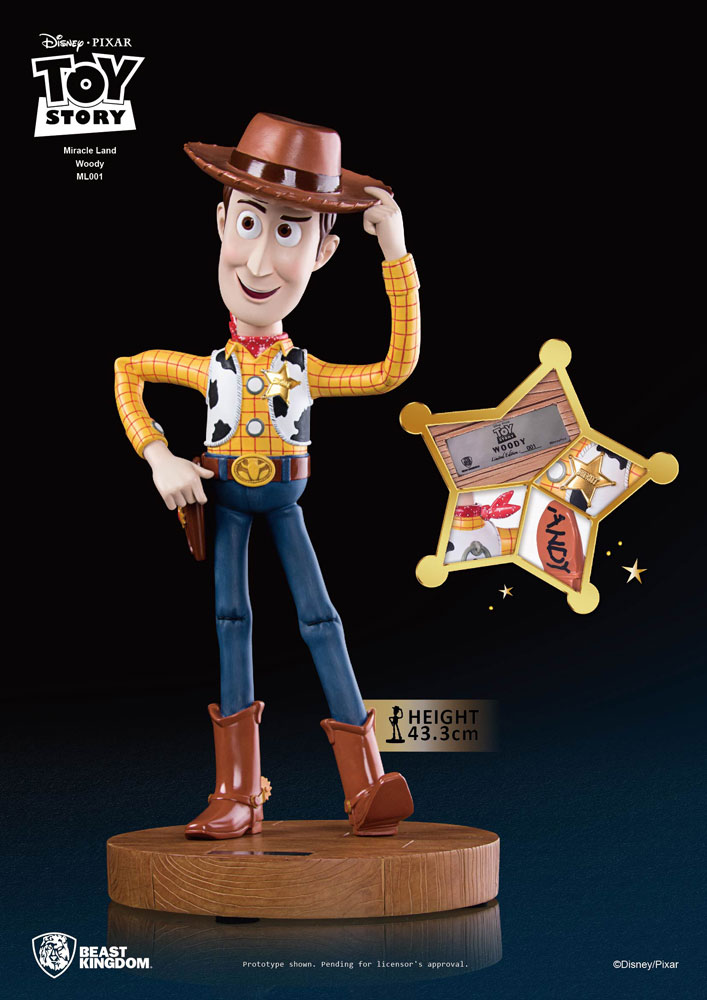 Toy Story 3 PVC Statue Miracle Land Woody 43 cm