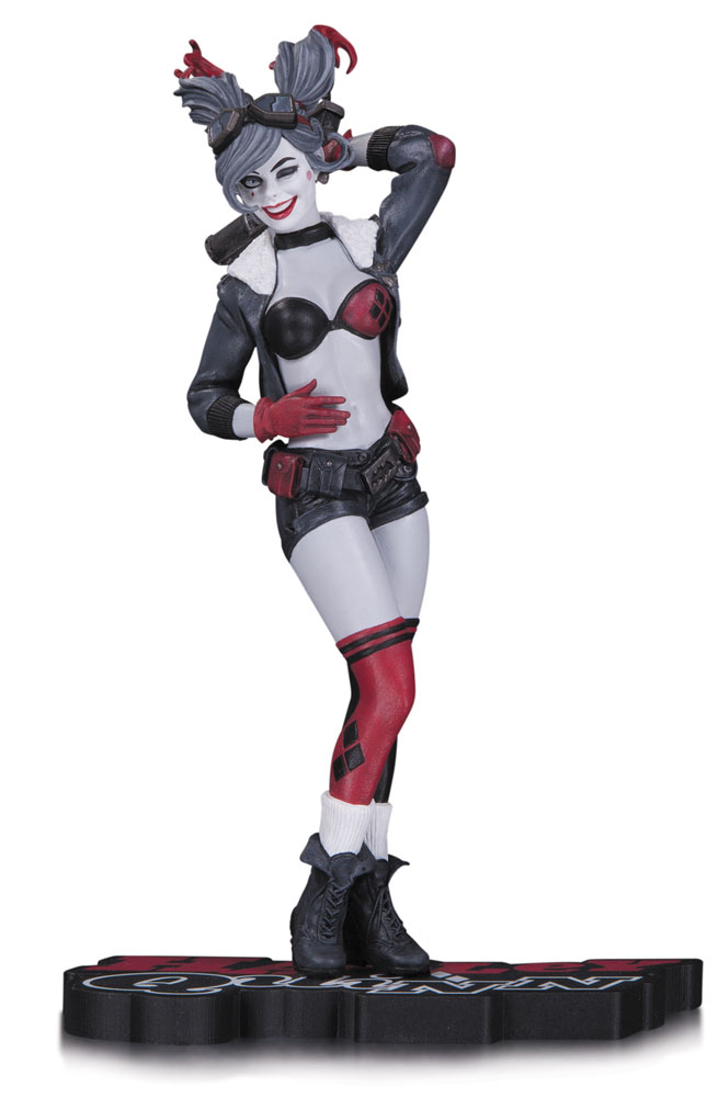 DC Comics Red, White & Black Statue Harley Quinn 17 cm