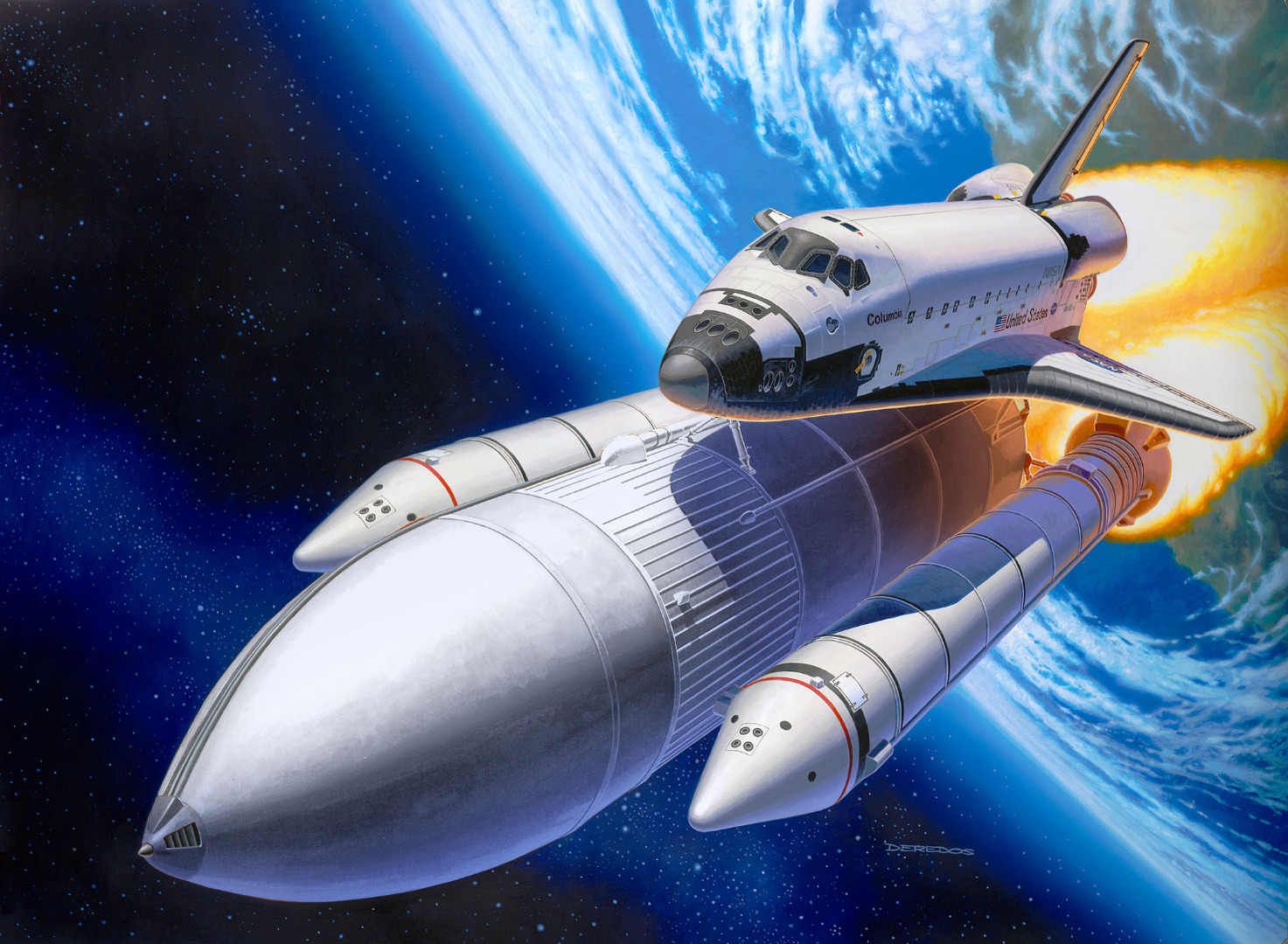 Revell Model Gift Set Space Shuttle 40th Anniversary Scale 1:144