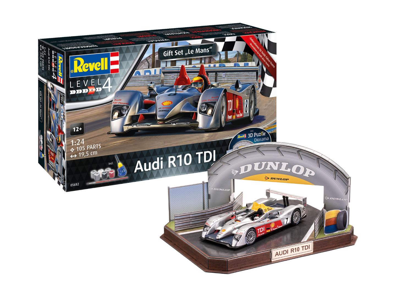 Revell Model Gift Set Audi R10 TDI LeMans + 3D Puzzle Scale: 1:24