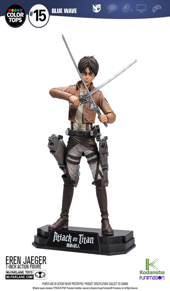Attack on Titan Color Tops Action Figure Eren Jaeger 18 cm