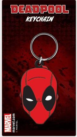 Porta-Chaves Marvel Comics Rubber Deadpool Face 6 cm
