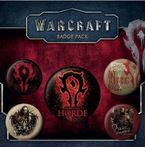 Conjunto de 5 Pins Warcraft The Horde