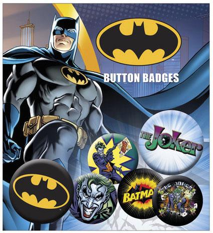 Conjunto de 6 Pins DC Comics Batman & Joker