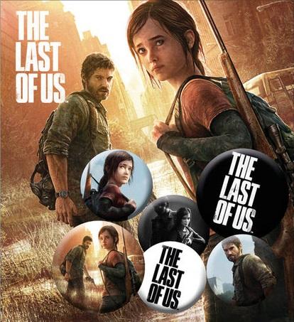 Conjunto de 6 Pins The Last Of Us Ellie and Joel