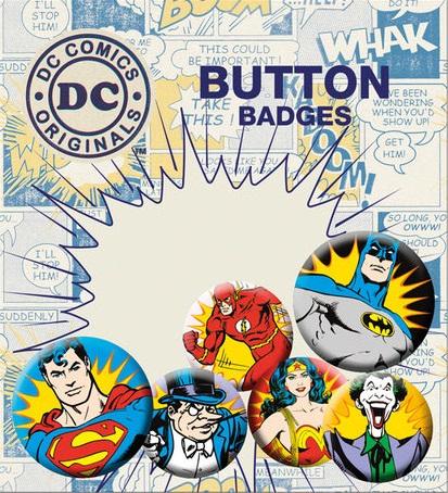 Conjunto de 6 Pins DC Comics Villains